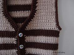 Free crochet patterns and DIY, crochet charts: Easy Toddler Vest Crochet Vest Pattern, Crochet Chart, Free Pattern, Crochet Patterns, Crochet For Kids, Easy Crochet, Free Crochet, Toddler Vest, Kids Wear