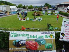 Robotic Garden Lawn Mowers Displaying a Trade Shows 2012  discover more at  http://www.ambrogiorobots.com