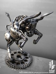 Dimension is approx 24 x 23 x 14 cm ( height x length x width)  Weight is approx 2 kg    - It made from recycled metal, useless auto parts&machine.  -