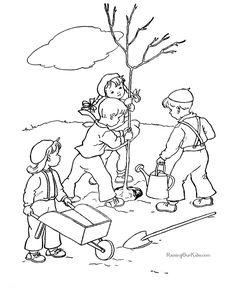 Arbor Day activities coloring pages