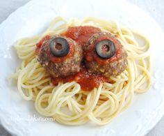 Creations by Kara: Halloween Recipe- Bloody Eyeballs {Meatballs}