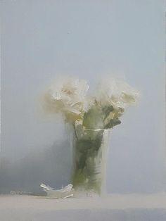Neil Carroll Original Oil Painting Realism Impressionism Still Life Roses