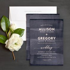 Painted Wood Wedding Invitations | Elli