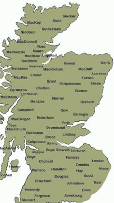 Clans of Scotland / I am a MUNRO with close connections to clan Ross and Matheson / all being on this image around the Inverness / Black Isle area of Scotland ✅ Scottish Words, Scottish Gaelic, Scottish Clans, Scottish Tartans, Scottish Highlands, Scotland Map, Scotland History, England And Scotland, Scotland Travel