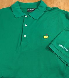 Masters Collection Green Men's Short Sleeve Golf Polo Shirt Solid Logo Size XL  #MastersCollection #PoloRugby