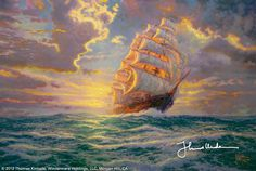Courageous Voyage by Thomas Kinkade