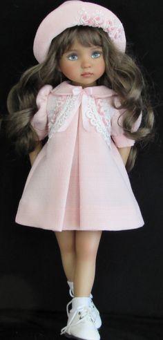 """Vintage stlye dress set made for effner little darling 13"""" dolls"""