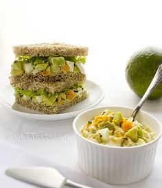 Avocado Egg Salad Sandwich - low-carb, lower in fat, but still very yummy! - diettaste.com