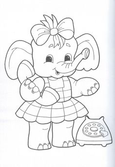 Free & Easy To Print Elephant Coloring Pages - Tulamama Free Kids Coloring Pages, Adult Coloring Book Pages, Disney Coloring Pages, Animal Coloring Pages, Colouring Pages, Coloring Pages For Kids, Coloring Books, Outline Drawings, Art Drawings Sketches Simple