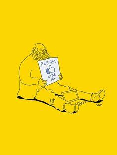 """""""L'illustrateur Mexicain Eduardo Salles se moque avec force graphique et humour cinglant de la société contemporaine. Une excellente manière de pointer les déviances sociales actuelles, et d'ironiser sur l'actualité internationale."""" #satire"""