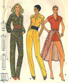 Vintage 70s Butterick 6582 Misses Jumpsuit or by RomasMaison