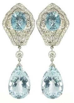 Edwardian aquamarine | More here: http://mylusciouslife.com/photo-galleries/bling-fling/