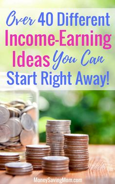 Income-Earning Ideas Earn extra income with this list of over 40 unique ideas! Money Saving Mom, Make Money Blogging, Make Money From Home, Ways To Save Money, Money Tips, How To Make Money, Earn Extra Income, Extra Money, Online Surveys For Money