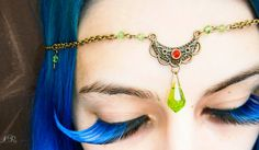 Medieval hairchain head dress LARP  elven by ElvenAdornments, $13.00