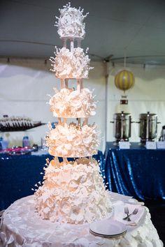 Elaborate + unique wedding cake idea - six-tier wedding cake {Lovely Valentine Photo + Film}