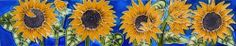 """Sunflowers - Decorative Ceramic Art Tile - 3""""x16"""" by entiles.com. $31.99. Hang on the wall with built-in hook or remove backing to install as a standard tile. WORLDWIDE EXCLUSIVE IMAGE and 3X16 Size Only Available FOR EN VOGUE-ART ON TILES. We make every effort to process your order within 24 hours. FREE HIGH QUALITY UNIQUE GIFT BOX. Hand crafted art tile, brilliantly colored, with complex glazes; unique textures and kiln fired at high temperature. 3""""X16"""" Size..."""