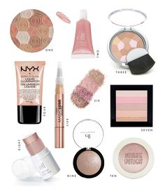 10 Best Drugstore Highlighters Illuminators. I know number two works! I'll have to try the others. I love Elf.