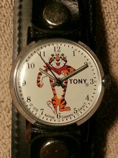 Vintage 1976 Tony Tiger watch. Premium to order off of the back of Kellogg cereal boxes.