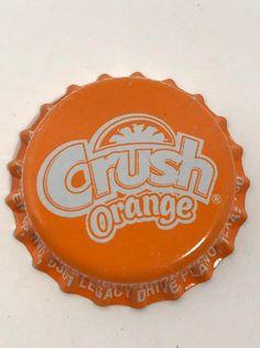 Soda bottle caps tops pop NOS 100 collectible same Crush Orange Aesthetic, Aesthetic Vintage, Orange Background, Background Vintage, Photo Wall Collage, Picture Wall, Bottle Cap Crafts, Bottle Caps, Green Wall Art