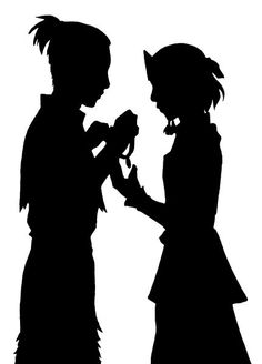 Sokka and Suki silhouette, betrothal necklace. I never thought about him giving Suki one, because she's from the Earth Kingdom, but now i want that flashback SOO bad in season 2