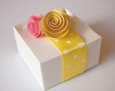 Personalize Embalagens com Rosas de Papel