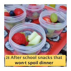 One to pin - A fab list of easy after school snacks that won't ruin dinner. Good to have this list to hand when you're doing the family shop - stock up on healthy snacks to offer when the kids are pestering for biscuits | Easy family food from Daisies & Pie