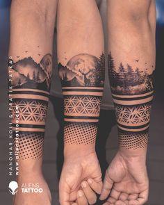 Sleeve Tattoos For Women, Arm Tattoos For Guys, Wrist Tattoos, Arm Band Tattoo, Body Art Tattoos, Cool Tattoos, Band Tattoo Designs, Tattoo Sleeve Designs, Polynesian Leg Tattoo