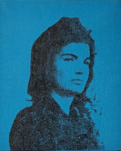 'Jackie' by Andy Warhol Acrylic and ink on canvas 50.8 x 40.6 cm Exhibited by Galerie Boulakia