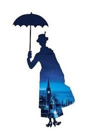 Mary Poppins silhouette art