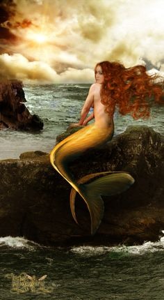 ♒ Mermaids Among Us ♒ art photography & paintings of sea sirens & water maidens - The light in the storm