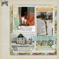 Anabelle Papers and Elements by Lynne-Marie; Winter Peony Elements (feather), Flossy Stitches 2, Vintage Christmas (label, gold) Christmas Memories (pompom trim) by Katie Pertiet; Sprinkles 11 (feather) by Valerie Wibbens; Artplay Sweet Baby (brad), Stitched by Anna White, Artsy Blendz Snow Elements (snowflake) by Anna Aspnes; Shadow Styles by Sahl
