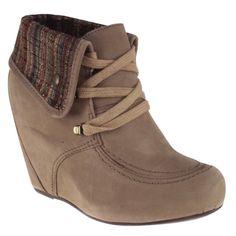 Bota Cravo e Canela 131502-2 - Khaki (Crazy Horse) - Calçados Online Sandálias, Sapatos e Botas Femininas | Katy.com.br