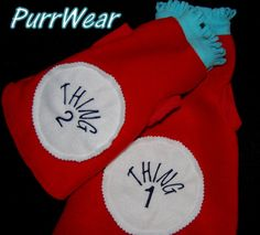PurrWear Thing 1 and Thing 2 Costumes for Sphynx, Cornish Rex, Peterbalds and all cats. on Etsy, $19.99