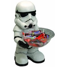 Is there anything scarier than a Stormtrooper offering candy? I think not. This Star Wars Stormtrooper Candy Bowl Holder is bound to be a hit this Halloween with the kids.  This minion of the Empire is perfect for parties, Halloween o