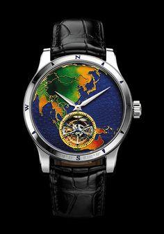Beautiful Jaeger-Le-Coultre enamel watch