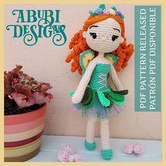 """♡Poly♡ en Instagram: """"(ENG ⬇️) 🧚♀️🌸Tori, el hada. Patrón disponible en mis tiendas 😉😉 👉🏻Link en mi bio ✅ . . 🧚♀️🌸Tori, the fairy. Pattern available in my stores 😉😉 👉🏻…"""" Amigurumi Doll, Fairy, Dolls, Children, Instagram, Tents, Faeries, Budget, Baby Dolls"""