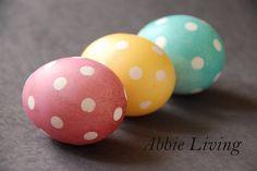 Polka Dot Dyed Easter Eggs - Tutorial