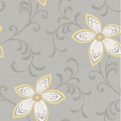 "Brewster Home Fashions Christel 33' x 20.5"" Khloe Girly Floral Scroll Embossed Wallpaper & Reviews 