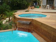 Comment faire le piscine hors sol en bois dans notre jardin et gagner d'espace? Trouvez des idées intéressantes pour le design du piscine et nouvotés