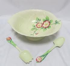 Carltonware Wild Rose salad dish and servers. Salad Dishes, Salad Bowls, Carlton Ware, Antique Perfume Bottles, Beltane, China Girl, Vintage Ceramic, Vintage Fashion, Vintage Style