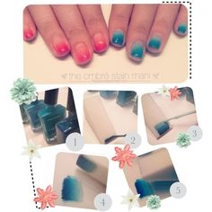 Ombre` Nails, created by tips-and-tea on Polyvore