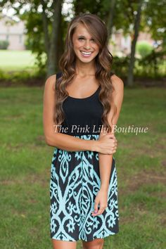 The Pink Lily Boutique - What I Live For Aqua Damask Mini , $37.00 (http://thepinklilyboutique.com/what-i-live-for-aqua-damask-mini/)