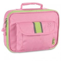 This pink lunchbox by Bixbee offers a fashionable, fun and safe way for your child to tote lunch and snacks!  The heavy-duty insulated main compartment keeps lunch fresh while the outer mesh pocket and front flap pocket offer easy access to snacks or trea