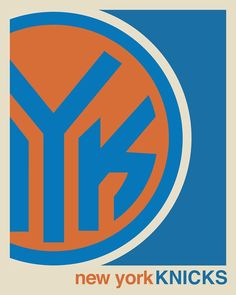 New York Knicks NBA logo artwork. Visit rareink.com to see our complete collection of NBA art available in both fine art prints and stretched canvas. @New York Knicks