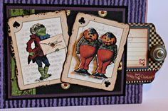 Hallowe'en in Wonderland Layout by Brand Ambassador Pam Bray featuring product by Graphic 45!