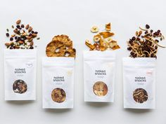 Stock healthy treats your desk drawer for those 4 PM hunger nags. Here are some of the best bars, bites, and other treats. Dog Treat Packaging, Fruit Packaging, Cookie Packaging, Healthy Cookies, Healthy Treats, Dark Chocolate Benefits, Veggie Chips, Healthy Snack Options, Dog Food Brands