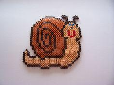 Snail / hama perler beads / Bügelperlen