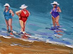 """making waves"" - Original Fine Art for Sale - © Carol Carmichael Fine Art, Painting People, Artist Gallery, Human Art, Alabama Artist, Painting, Female Art, Seaside Art, Art Wallpaper"