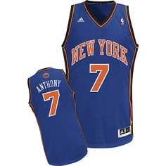 Adidas NBA New York Knicks 7 Carmelo Anthony New Revolution 30 Swingman  Road Blue Jersey Nba 30b1b4e8d