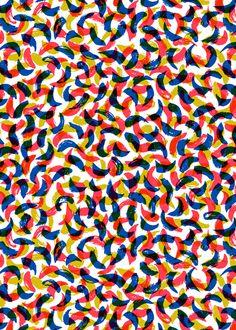 Strokes and Pencils Patterns by Tatiana Boyko, via Behance